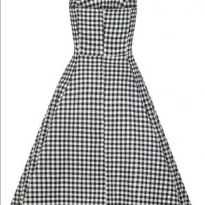 Collectif gingham pinup swing dress size xl - 14